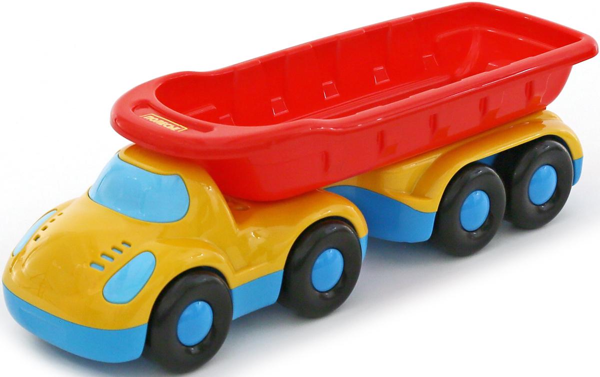 Фото - Полесье Самосвал Дружок с полуприцепом, цвет в ассортименте полесье набор игрушек для песочницы 468 цвет в ассортименте