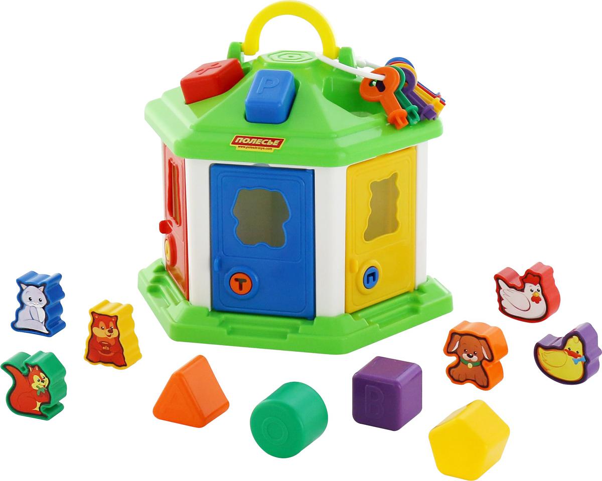 Полесье Сортер Логический домик № 2, цвет в ассортименте игрушка развивающая логический квадрат артикул д020
