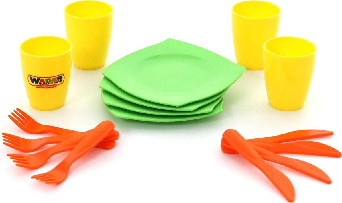 цена на Полесье Столовый набор игрушечной посуды на 4 персоны, цвет в ассортименте