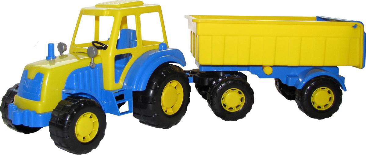 Полесье Трактор Алтай с прицепом №1, цвет в ассортименте полесье трактор алтай с прицепом 1 цвет желтый синий