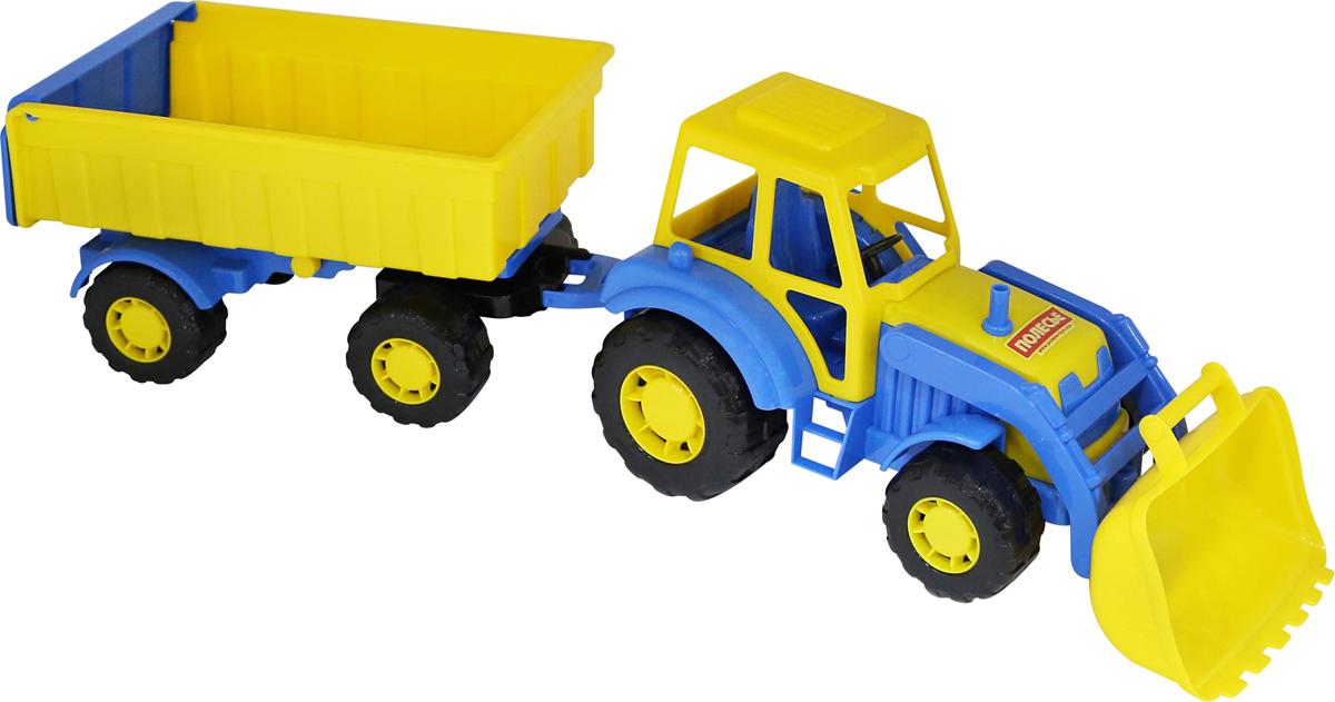 Полесье Трактор Алтай с прицепом №1 и ковшом, цвет в ассортименте полесье трактор алтай с прицепом 1 цвет желтый синий