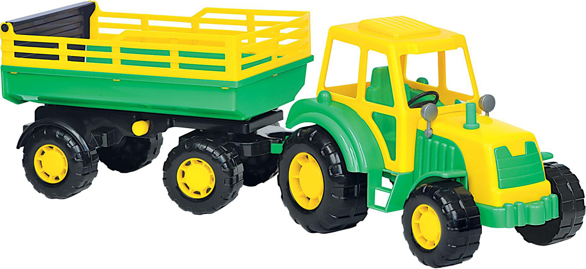Полесье Трактор Алтай с прицепом №2, цвет в ассортименте строительная техника технопарк трактор с прицепом 1801c 1bcd r 17 см