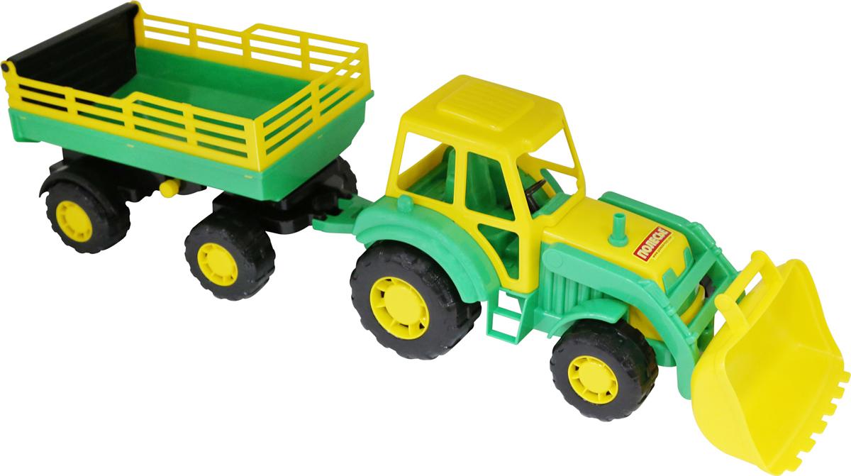 Полесье Трактор Алтай с прицепом №2 и ковшом цвет в ассортименте полесье трактор алтай с прицепом 1 цвет желтый синий