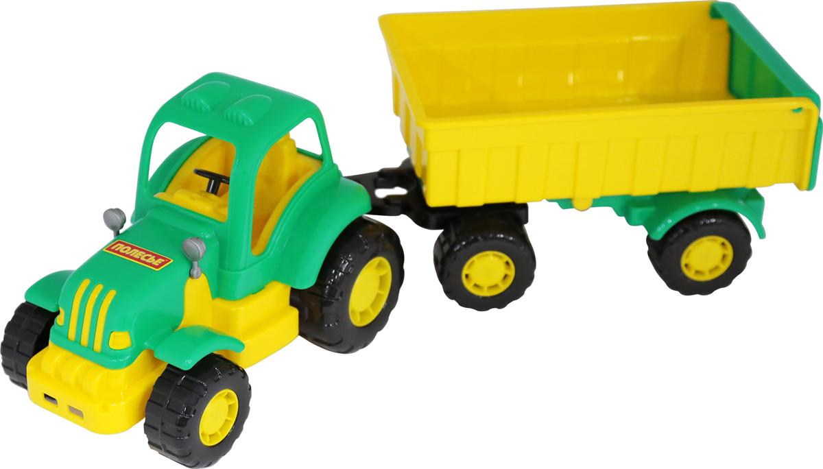 Полесье Трактор Крепыш с прицепом №1, цвет в ассортименте трактор zhorya трактор с прицепом цвет в ассортименте в85782