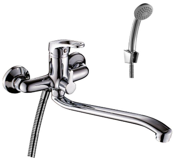 Смеситель Rossinka Silvermix, для ванны, с S-образным изливом. B35-34 смеситель для ванны rossinka silvermix b35 31