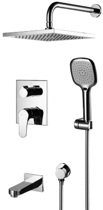 """Смеситель встраиваемый Lemark """"Shift"""", для ванны и душа. LM4322C"""