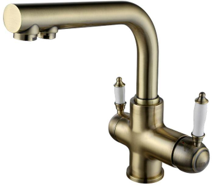 Смеситель для кухни Lemark Villa, с подключением к фильтру с питьевой водой смеситель для кухни с подключением к фильтру lemark villa lm4861b