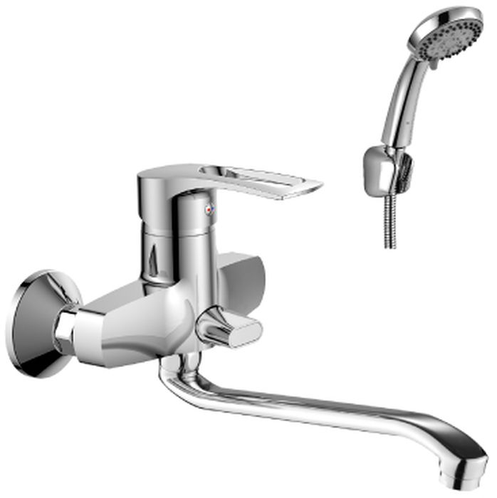 Смеситель Rossinka Silvermix, для ванны, с S-образным изливом. T40-34 цена