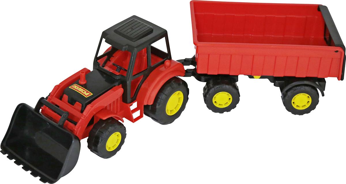 Полесье Трактор Мастер с прицепом №1 и ковшом, в ассортименте трактор zhorya трактор с прицепом цвет в ассортименте в85782