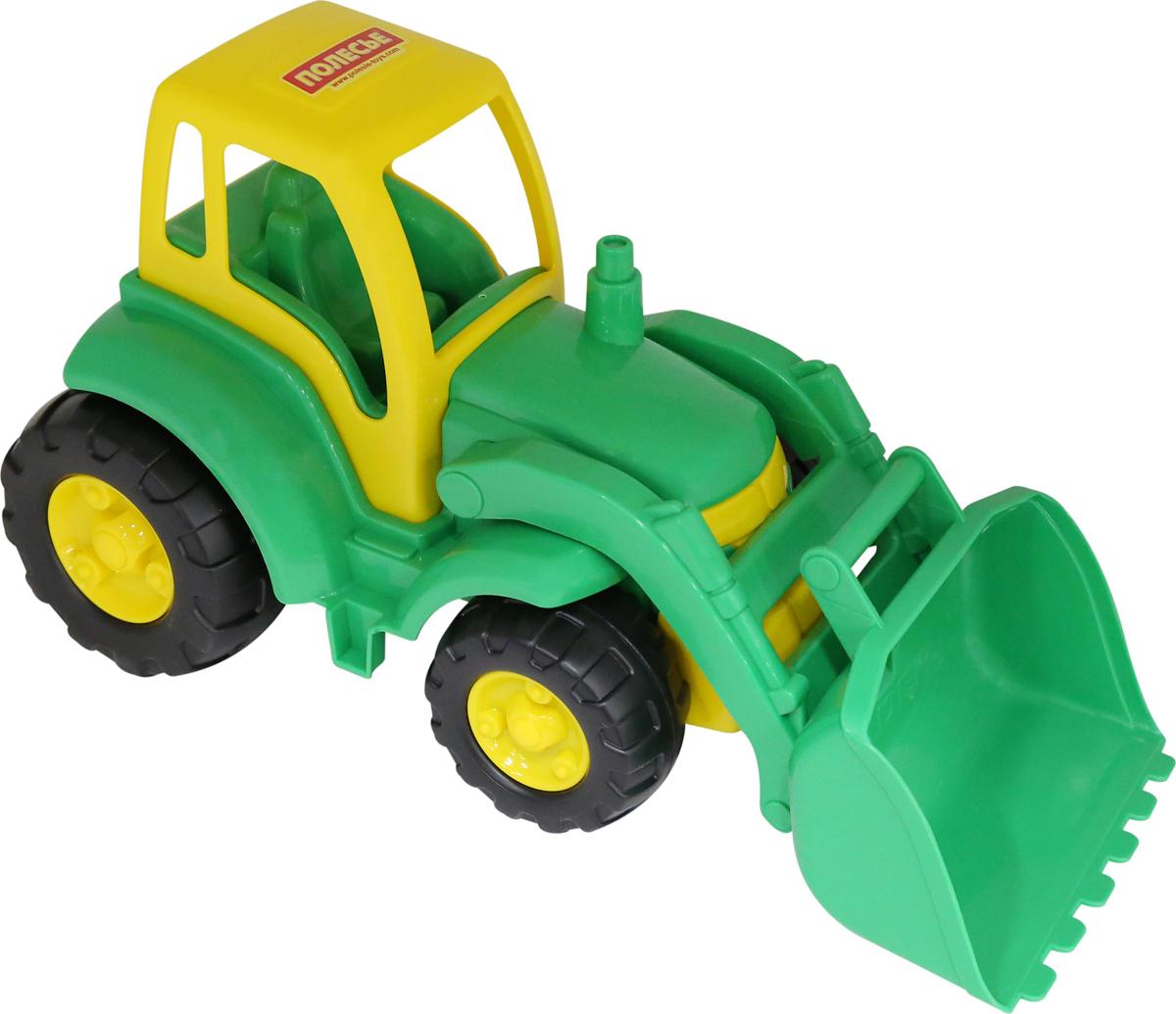 Полесье Трактор Чемпион с ковшом, цвет в ассортименте polesie трактор с лопатой и ковшом чемпион полесье