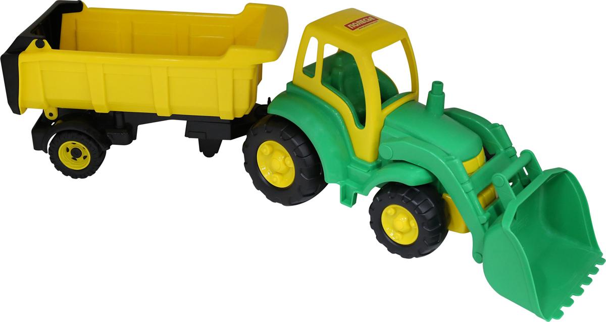 Полесье Трактор Чемпион с ковшом и полуприцепом цвет в ассортименте polesie трактор с лопатой и ковшом чемпион полесье