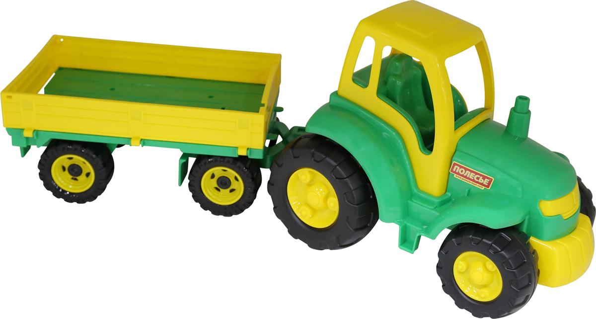 Полесье Трактор Чемпион с прицепом, цвет в ассортименте полесье трактор чемпион