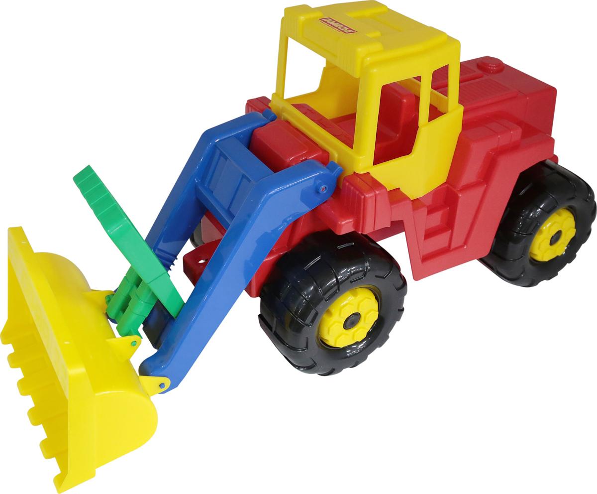 Полесье Трактор-погрузчик Батыр, цвет в ассортименте трактор полесье трактор погрузчик умелец оранжевый 159238