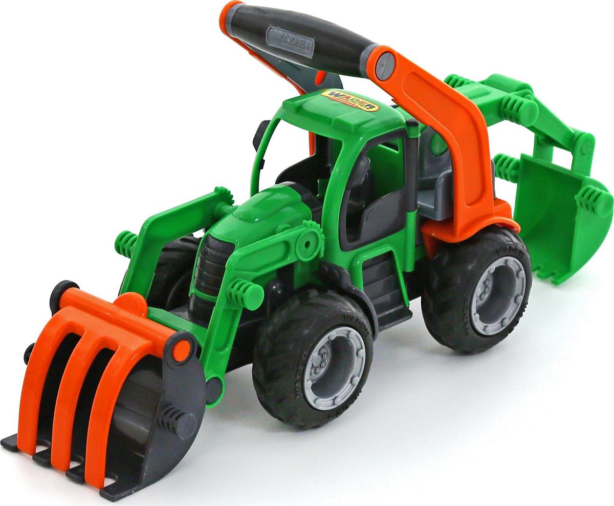 Полесье Трактор-погрузчик с ковшом ГрипТрак 37374, цвет в ассортименте polesie трактор с лопатой и ковшом чемпион полесье