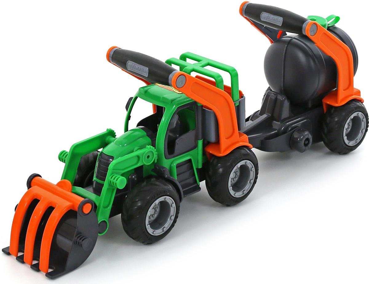 Полесье Трактор-погрузчик с цистерной ГрипТрак 37404, цвет в ассортименте37404Трактор-погрузчик с прицепом Полесье ГрипТрак выполнен из прочного пластика ярких цветов. Игрушка представляет собой мощный трактор с большим погрузочным ковшом. Трактор оснащен колесиками с крупным рельефом, которые обеспечивают превосходное сцепление и наилучшую проходимость на любой поверхности. С таким трактором можно играть не только дома, но и в песочнице! С помощью подвижного ковша с захватом малыш без труда сможет перевозить любые грузы. В комплект входит прицеп с цистерной, он оснащен двумя крупными колесиками и дополнен ручкой. Яркая машинка позволит малышу устроить настоящую стройку или уборку урожая у себя дома. Такая игрушка непременно порадует ребенка и прослужит долго. Уважаемые клиенты! Обращаем ваше внимание на цветовой ассортимент товара. Поставка осуществляется в зависимости от наличия на складе.