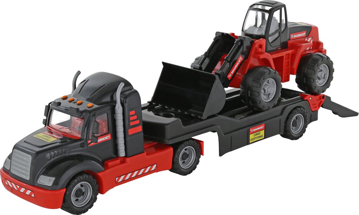 Полесье Трейлер Mammoet 206-03 и трактор-погрузчик, цвет в ассортименте
