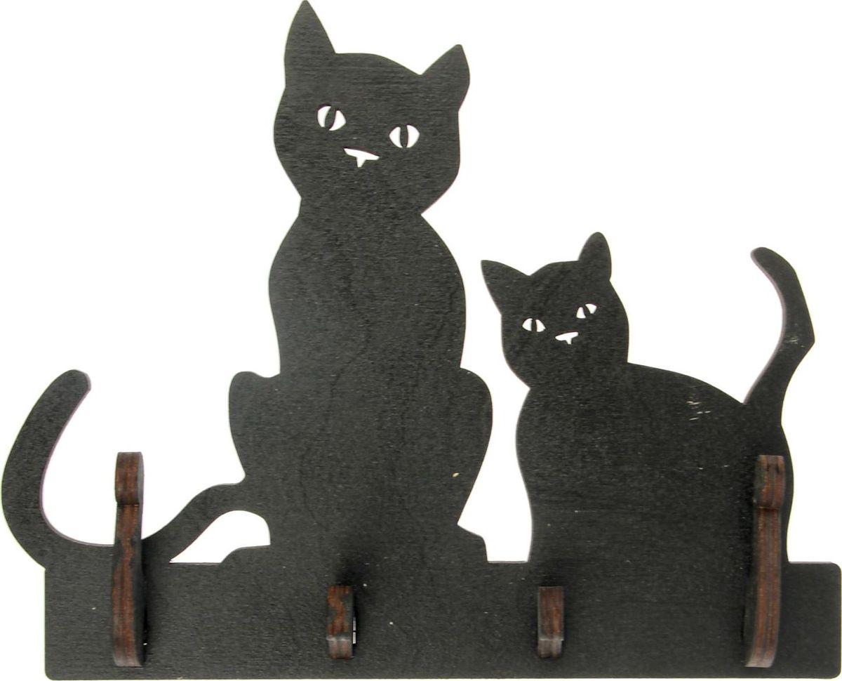 "Ключница настенная ""Две кошки"", 20,5 х 17,5 х 4 см"