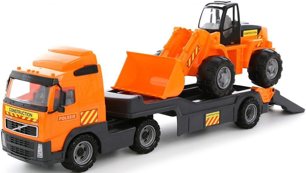 Полесье Трейлер Volvo и трактор-погрузчик 58423, цвет в ассортименте