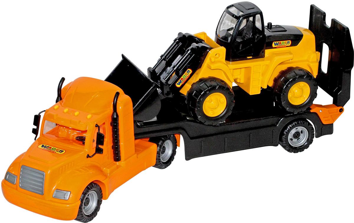 цены Полесье Трейлер Майк и трактор-погрузчик 55736, цвет в ассортименте