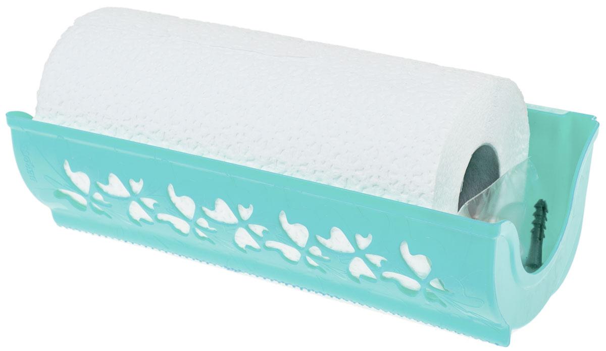 Держатель для бумажных полотенец Berossi Fly, цвет: светло-зеленый, 27,3 х 8,7 х 12,4 см салатник berossi domino twist цвет снежно белый 0 7 л