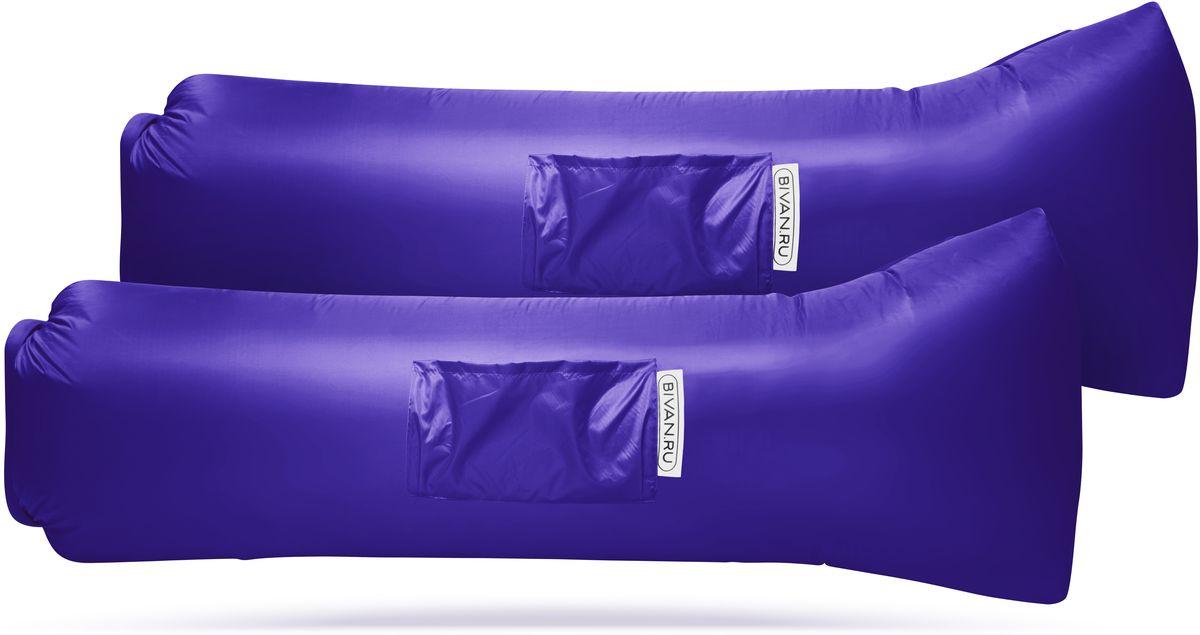 """Диван надувной """"Биван 2.0"""", цвет: фиолетовый, 190 х 70 см, 2 шт"""