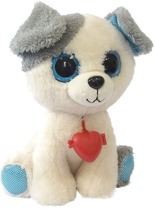 Fancy Мягкая игрушка Собачка c кулоном 22 см