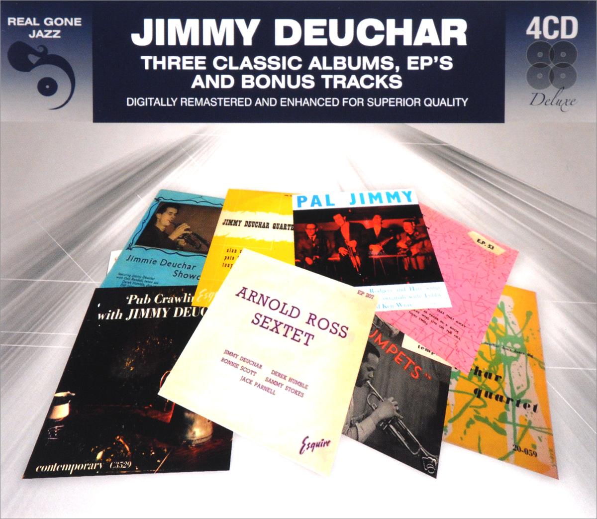 Jimmy Deuchar Jimmy Deuchar. 3 Classic Albums Plus Bonus Tracks (4 CD) jimmy fashion 567 3