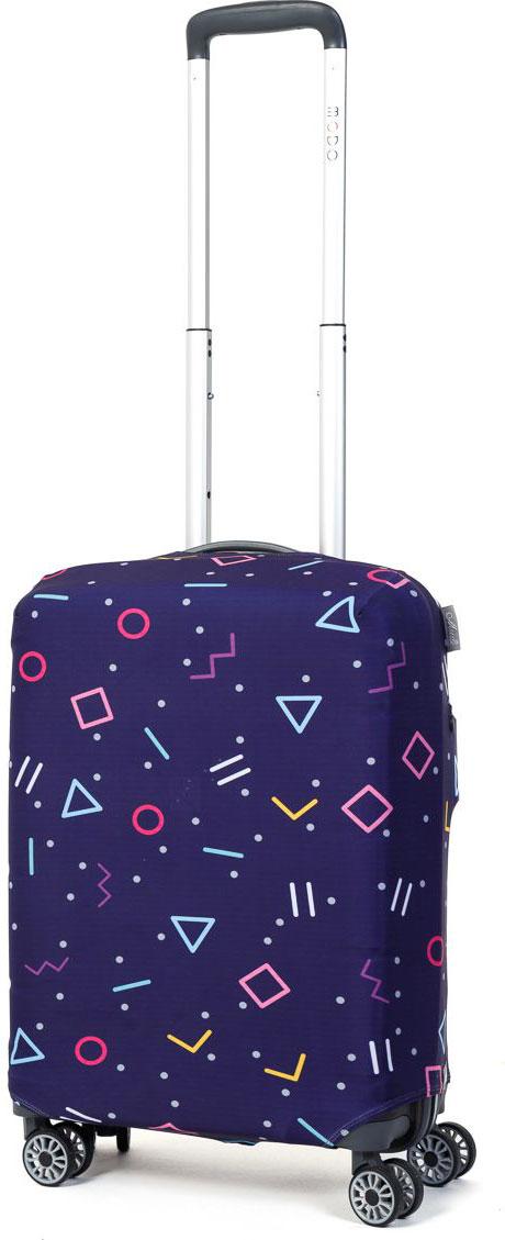 Чехол для чемодана Mettle Morz, цвет: синий. Размер S (высота чемодана: 50-55 см) чехол для чемодана mettle творческо размер m высота чемодана 55 70 см
