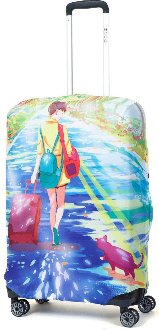 Чехол для чемодана Mettle Dream Of Road, размер M (высота чемодана: 65-75 см) чехол для чемодана mettle творческо размер m высота чемодана 55 70 см
