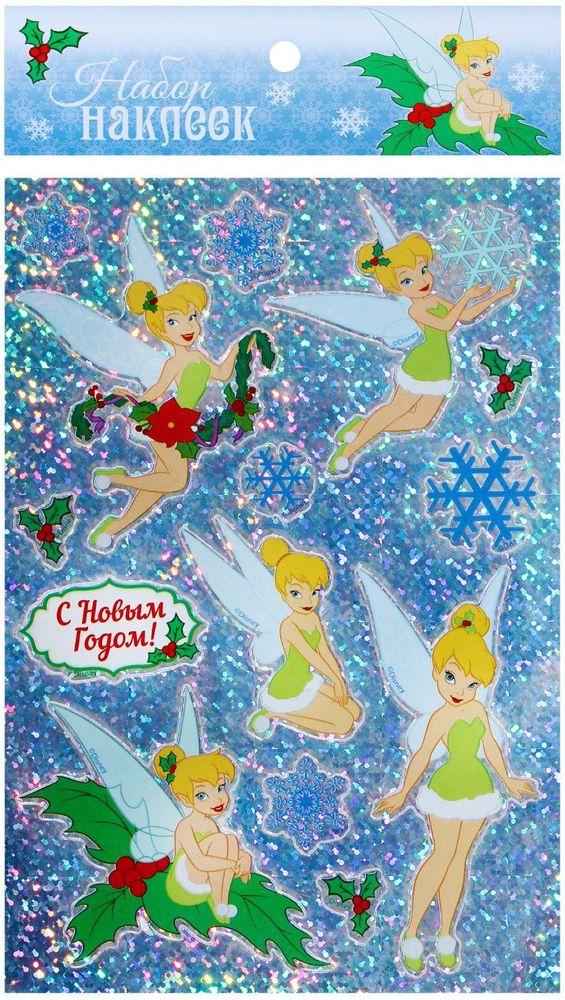 """Наклейки декоративные Disney """"С Новым годом! Феи"""", 11 х 15 см"""