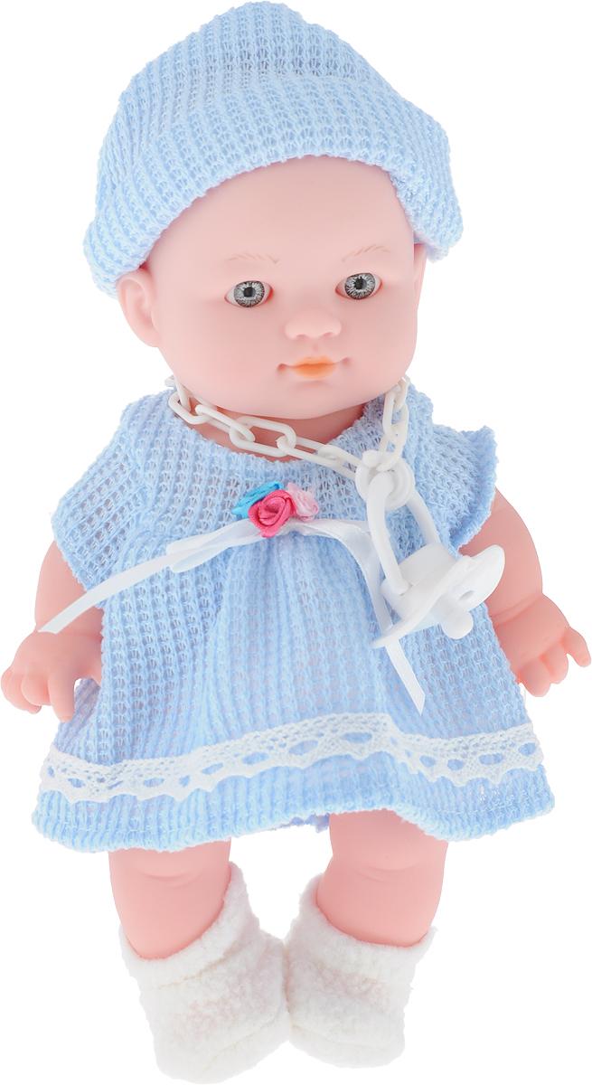 Abtoys Пупс озвученный Мой малыш цвет одежды голубой