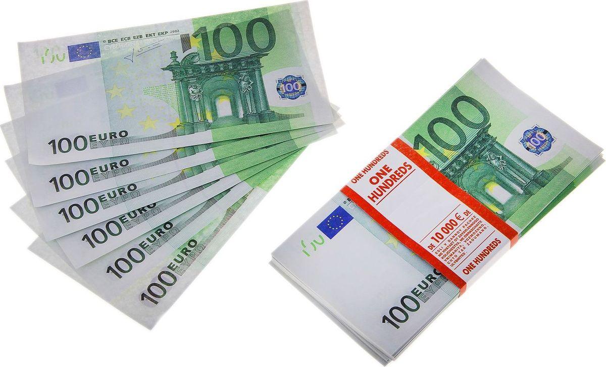 Деньги сувенирные ОКеюшки Пачка купюр 100 евро деньги сувенирные океюшки пачка купюр 50 долларов