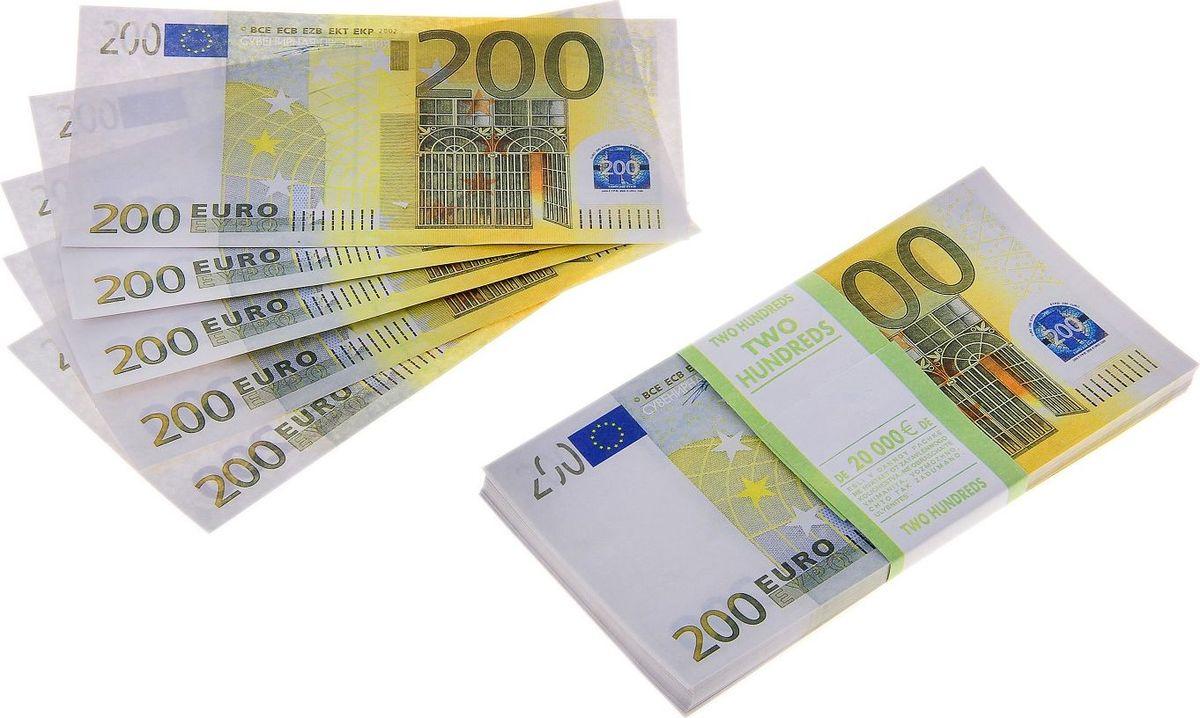 Деньги сувенирные ОКеюшки Пачка купюр 200 евро деньги сувенирные океюшки пачка купюр 50 долларов