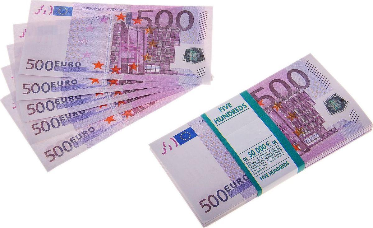Деньги сувенирные ОКеюшки Пачка купюр 500 евро сувенир печатная продукция сувенирные деньги 500 дублей