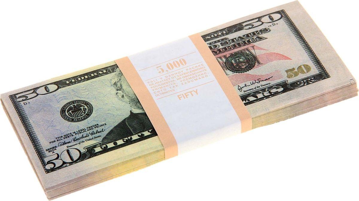 Деньги сувенирные ОКеюшки Пачка купюр 50 долларов деньги сувенирные океюшки пачка купюр 50 долларов