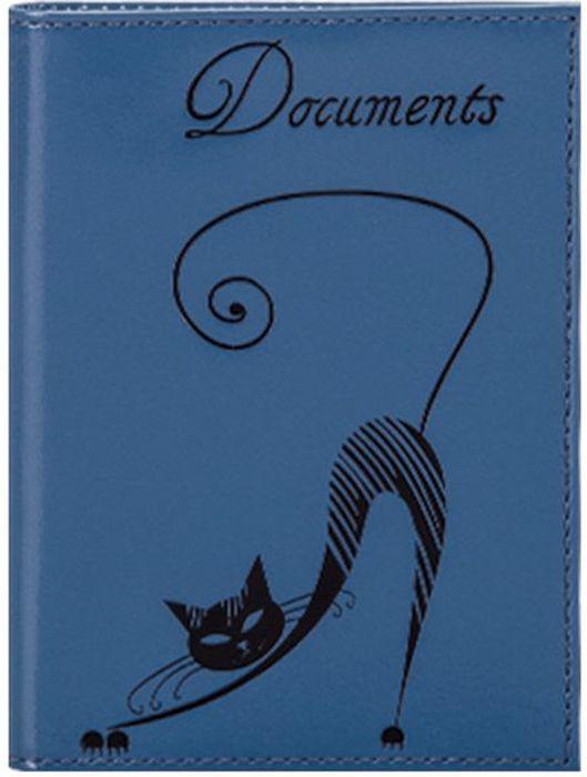 Бумажник водителя женский Fabula Cats, цвет: васильковый. BV.35.SH montagut montagut женщин бумажник крокодиловой кожи бумажник ударил цвет большой емкости г жа сцепления r2312880921 синий