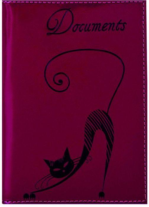 Бумажник водителя женский Fabula Cats, цвет: сливовый. BV.35.SH montagut montagut женщин бумажник крокодиловой кожи бумажник ударил цвет большой емкости г жа сцепления r2312880921 синий