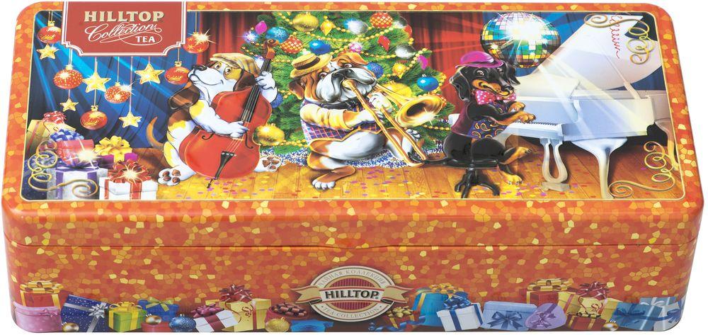 Hilltop Веселая компания новогоднее трио чай черный листовой, 150 г шкатулка подарочная неупиваемая чаша черный листовой чай 100 г