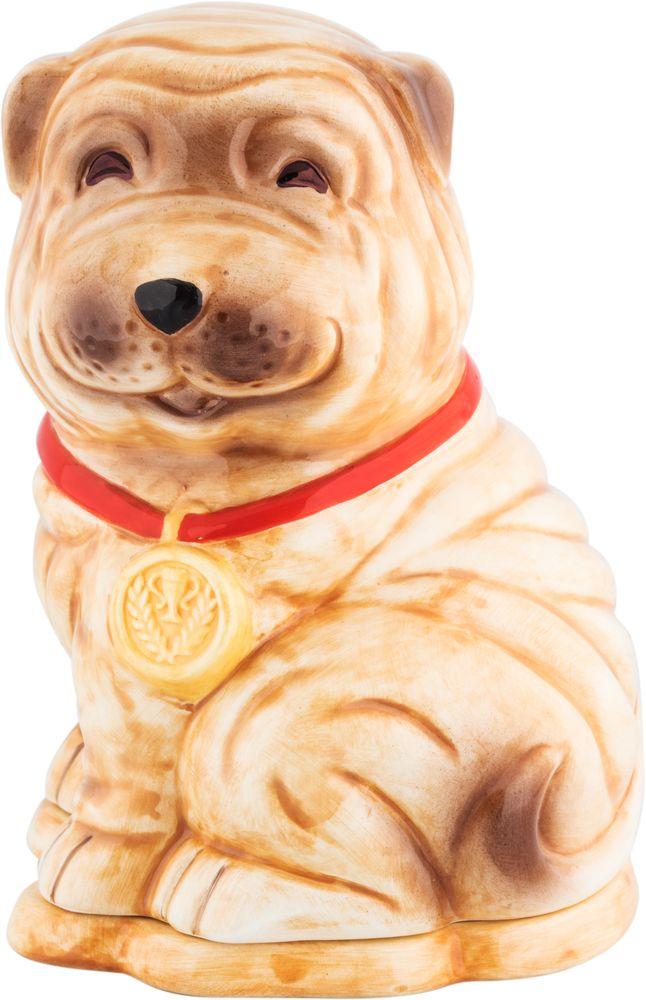 Hilltop Собака шарпей чай черный листовой подарок Цейлона, 50 г hilltoр волшебный дед мороз чай черный листовой подарок цейлона 80 г