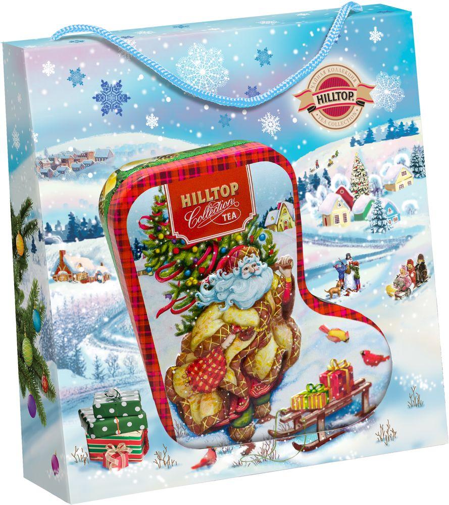 Hilltoр Волшебный Дед Мороз чай черный листовой подарок Цейлона, 80 г