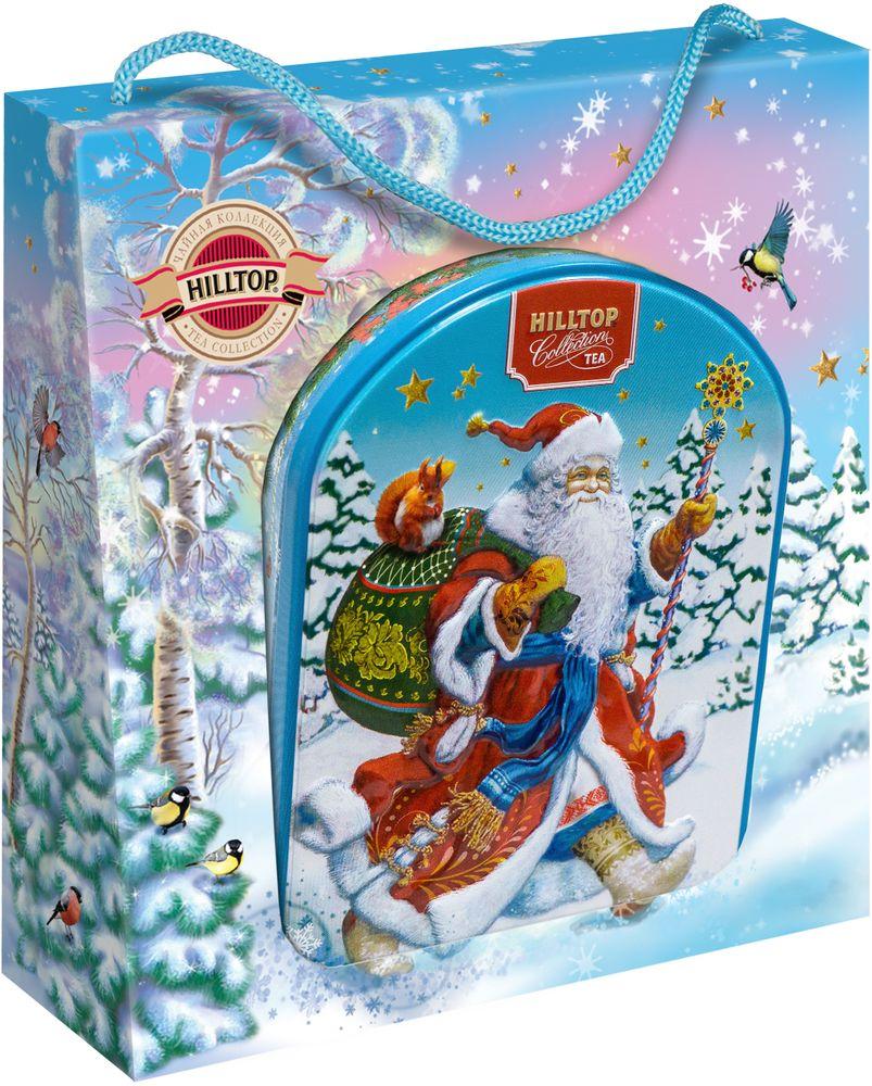 цена на Hilltop Веселый Дед Мороз чай черный листовой Цейлонское утро, 80 г