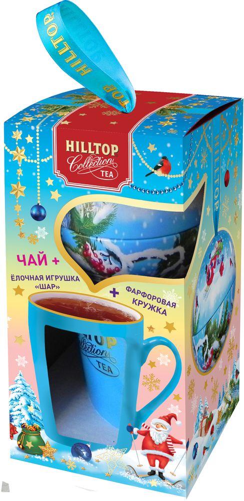 Фото - Hilltop Набор Снежные забавы чай черный листовой с кружкой, 80 г hilltop романтический пейзаж подарочный набор 3 шт по 50 г