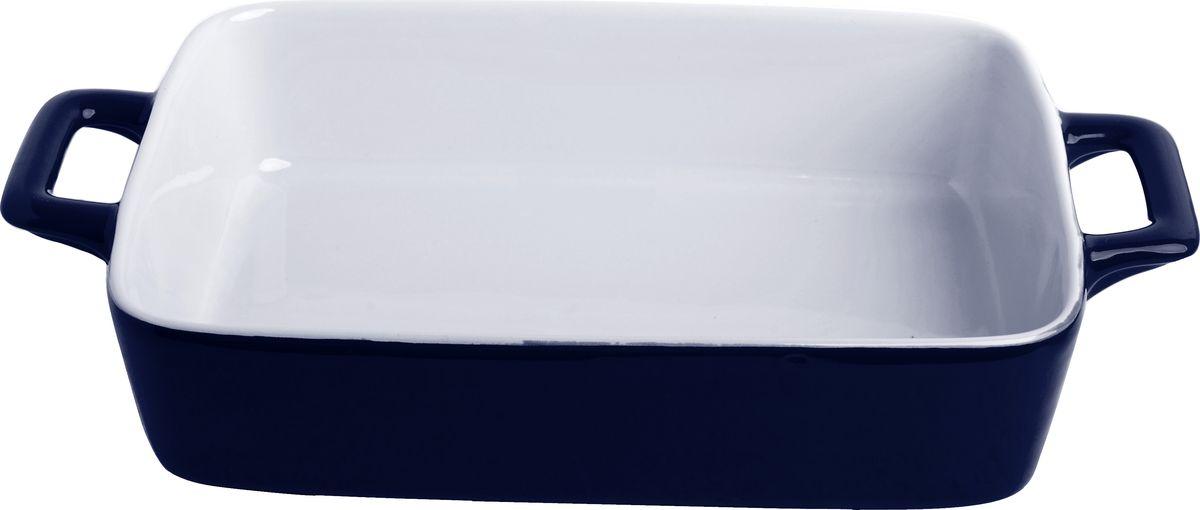 """Противень керамический """"Frank Moller"""", цвет: темно-синий, белый, 30 х 17,5 х 5,5 см"""