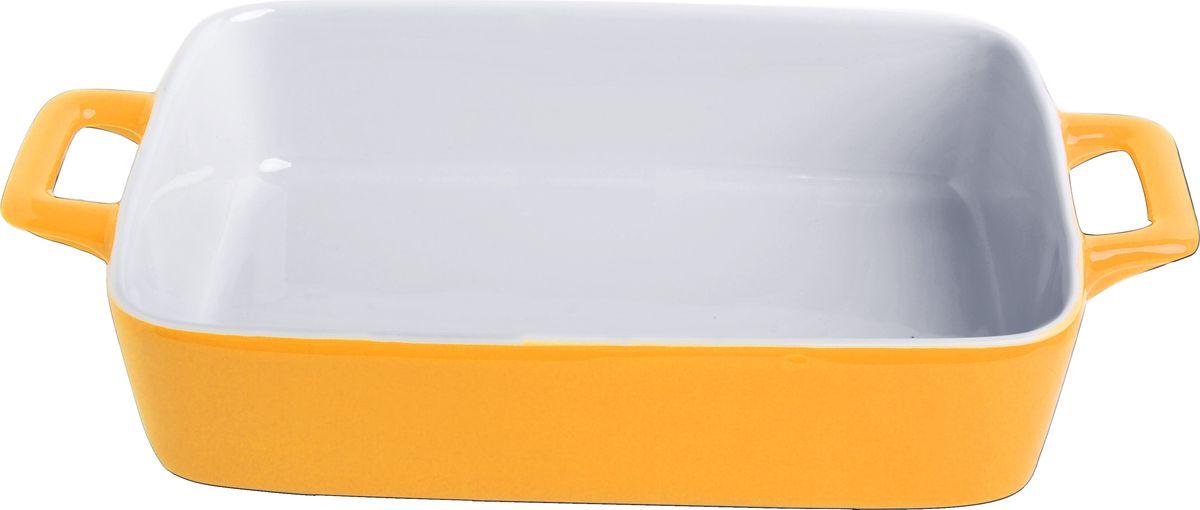 """Противень керамический """"Frank Moller"""", цвет: желтый, белый, 27 х 16,3 х 5,5 см"""