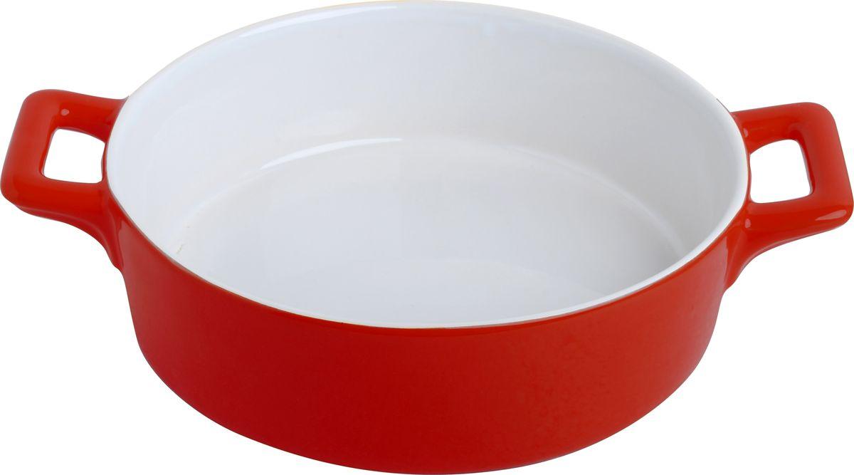 """Противень керамический """"Frank Moller"""", цвет: красный, белый, 24,3 х 18,8 х 6,3 см"""