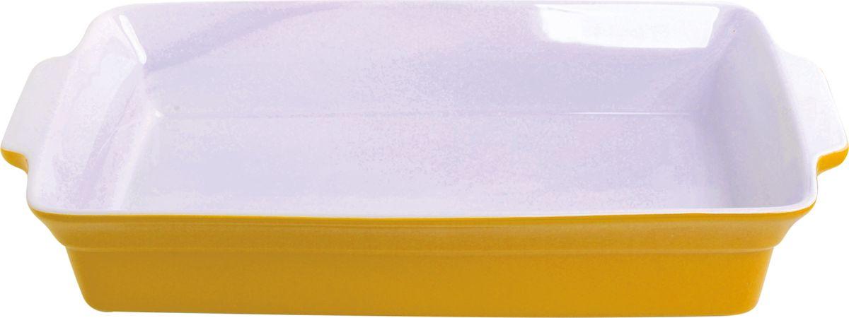 Противень керамический Frank Moller, прямоугольный, цвет: желтый, 37,5 х 22 х 6,5 смFM-657Противень керамический Frank Moller выполнен из высококачественной жаропрочной керамики. Благодаря обжигу при высоких температурах, изделие имеет прочную непористую структуру и идеально гладкую поверхность. Материал гигиеничен, не впитывает запахи, легко моется, нейтрален к пищевым кислотам и солям. Обеспечивает щадящий режим приготовления, благодаря способности медленно накапливать тепло и медленно его отдавать. Противень подходит для использования в духовке, гриле, микроволновых печах, для хранения в холодильнике и замораживания.Можно мыть в посудомоечной машине. Выдерживает нагрев до 220°С. Размер: 37,5 х 22 х 6,5 см.