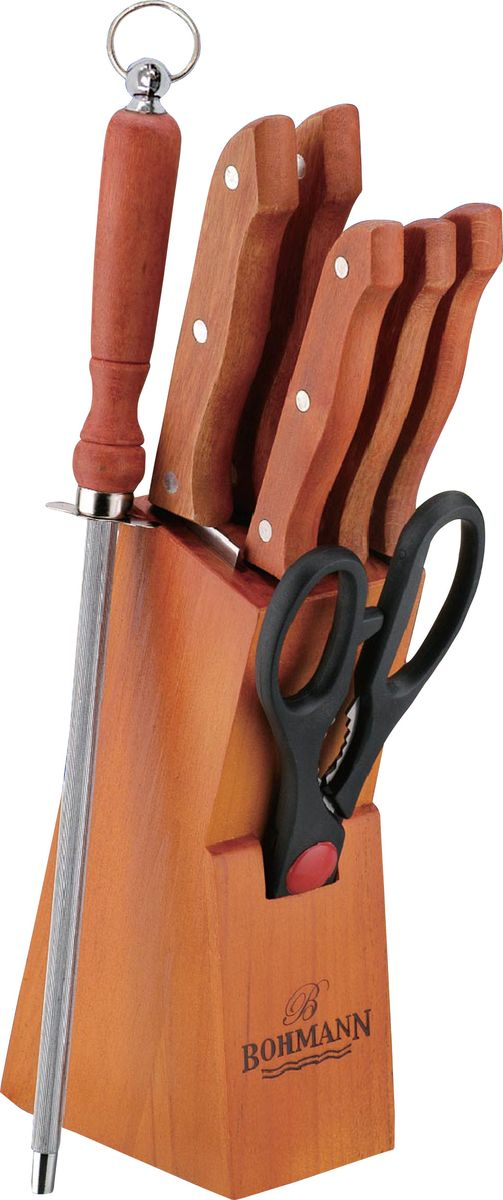 "Набор ножей ""Bohmann"", на подставке, цвет: дерево, 8 предметов. 5103BHWD/308WD"