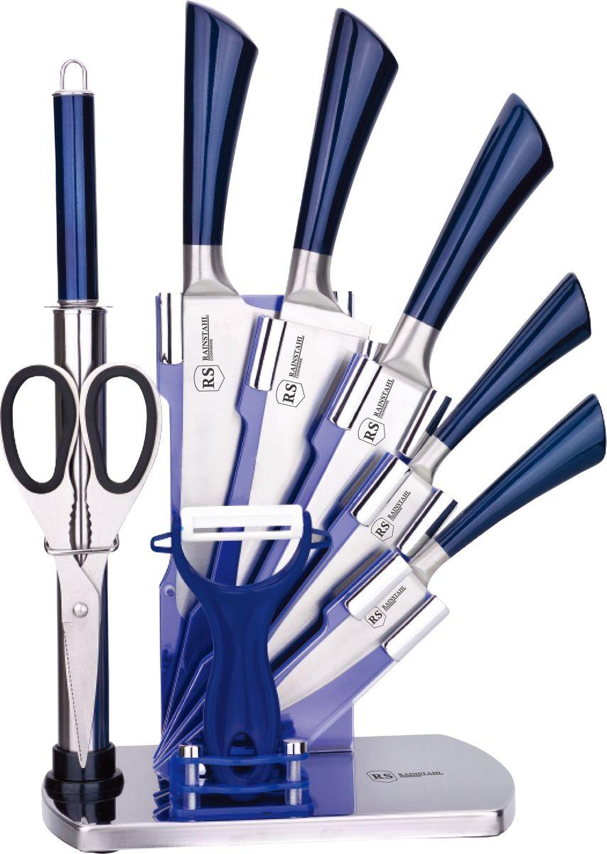 Набор ножей Rainstahl, на подставке, 9 предметов. 8005-09RS\KN набор ножей rainstahl на подставке цвет красный серый 8 предметов