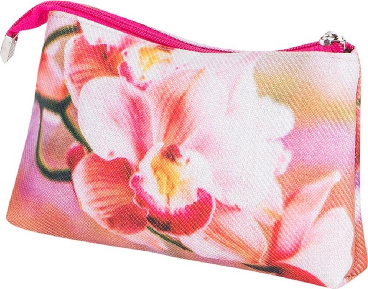 Косметичка женская Рапира Орхидеи, цвет: розовый, белый. К001 косметичка женская kimmidoll цвет розовый kf1193