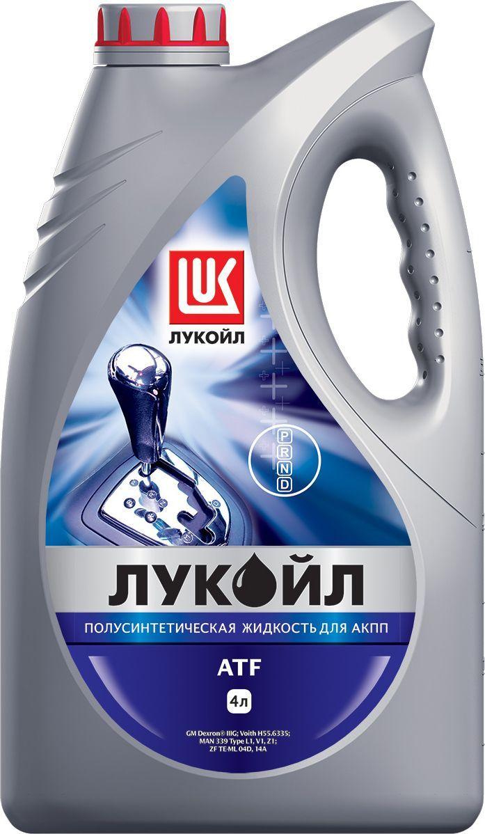 Масло трансмиссионное ЛУКОЙЛ ATF, полусинтетическое, 4 л